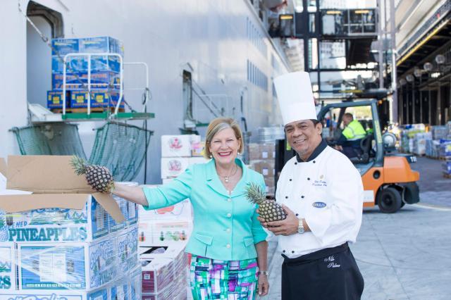 Ann Sherry and Diamond Princess Chef Nilo Palma